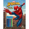 Homem-Aranha Ler e Colorir Com Lápis