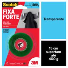 FITA FIXA FORTE 3M TRANSP.12MMX2M