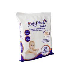 Lenços Umedecidos Pocket Embalagem De Bolso 20cm x 18cm 20 Unidades Baby Bath