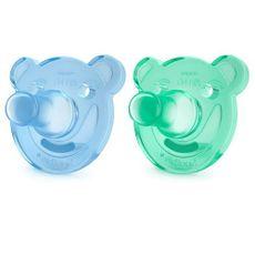 Chupeta Soothie Dupla 3+ Meses Azul e Verde Philips Avent