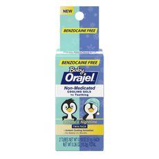 Analgésico Para Dentição/Dor De Dente 2 Tubos Livre De Benzocaína 10,2g Baby Orajel