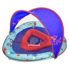 Boia Inflável Com Cobertura Para Bebê 6-24m Baby Boat Azul The Original SwimSchool