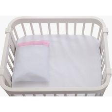 Jogo De Lençol 2pçs Mini Kit Rosa Brubreleu Baby