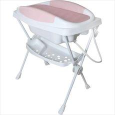 Banheira Plástica Dobrável Bebê Premium Cor Rosa Galzerano