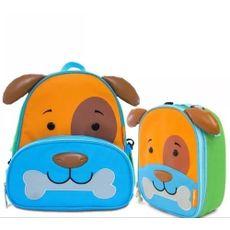 Kit Mochila E Lancheira Infantil Lets Go Cachorro Dylan Comtac Kids & Care