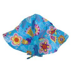 Chapéu Floral Azul 50+FPU Ecobabies