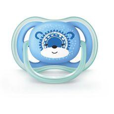 Chupeta Ultra Air 6-18m Tamanho 2 Urso Azul Philips Avent