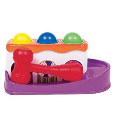 Brinquedo Bate Martelo Com Bolinhas 12m+ Buba