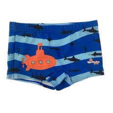 Sunga Box Submarino Laranja Listrado Azul Rio Ondas