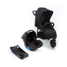 Carrinho De Bebê Travel System Collina Trio Com Moisés Preto Infanti