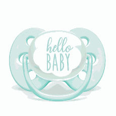 Chupeta Ultra Soft 0-6m Tamanho 1 Hello Baby Verde Philips Avent