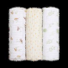 Cueiro Swaddle Soft Bamboo 1,20m X 1,20m Família Pássaros Mami