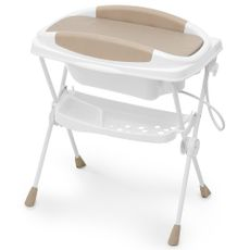 Banheira Plástica Dobrável Bebê Premium Cor Areia Galzerano