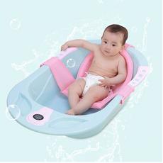 Rede Protetora De Banho Baby Net Com Alças Rosa KaBaby