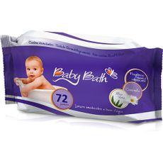 Lenços Umedecidos A Basa D'água 72 Unidades Baby Bath