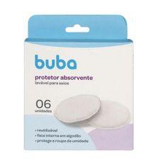 Kit Protetor Absorvente Para Seios Laváveis 6 Unidades Buba
