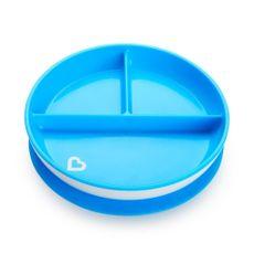 Prato Com Ventosa E Divisória Azul Munchkin