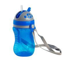 Copo Com Alça Removível e Canudo Válvula Azul Clingo