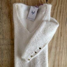 Blusão Maxipull Flufly - Off White