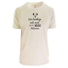 Camiseta unisex: Lambeijo. Cor Off-white.