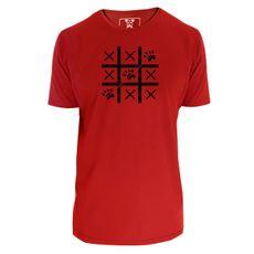 Camiseta unisex: Jogo da Velha. Cor Vermelha.