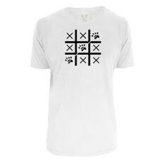 Camiseta unisex: Jogo da Velha. Cor Branca.