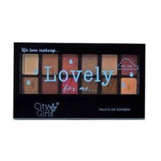 Paleta de sombras 12 cores Lovely 1 City Girls
