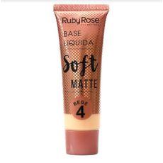 Base Líquida Soft Matte Bege Ruby Rose 4