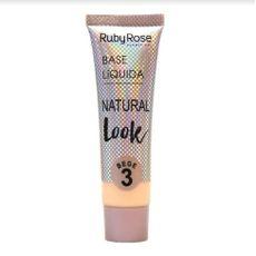 Base Líquida Natural Look Bege Ruby Rose 3