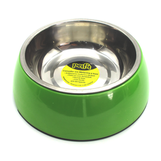 Comedor em inox com base em melamina anti-derrapante, em tamanho G, na cor verde