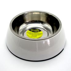 Comedor em inox com base em melamina anti-derrapante, em tamanho G, na cor branca