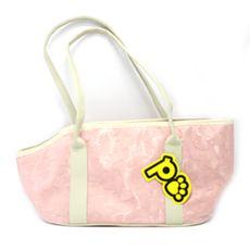 Bolsa de Transporte em lonita impermeável com faixa de segurança com velcro para o transporte de pets de pequeno porte