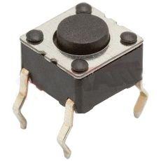 CHAVE TACT KT 1105 A-B HORIZ. EIXO 4.3MM/4-T/6X6MM