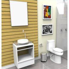 Gabinete para Banheiro com Cuba e Espelheira Paris 5000