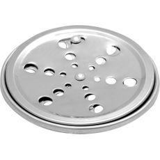 Ralo Redondo em Aço Inox 10x10 para Banheiro com Sistema Abre e Fecha