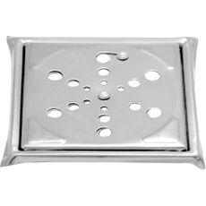 Ralo Quadrado em Aço Inox 15x15 para Banheiro com Sistema Abre e Fecha
