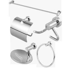 Kit Acessórios para Banheiro Classic Metal Cromado