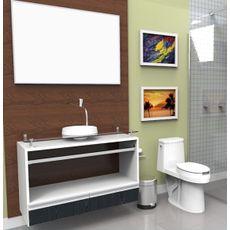 Gabinete para Banheiro com Cuba e Espelheira Paris 1000