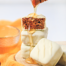 Pão de Mel Branco - Sem Recheio