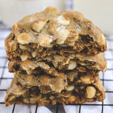 Cookie Macadâmia, Chocolate Branco e Limão