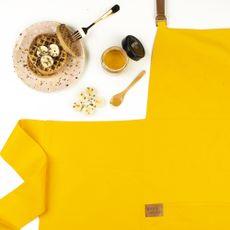 Avental Couro Amarelo