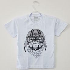 Camiseta Infantil - Dog Motoqueiro - Branca