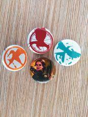 Kit 4 Buttons - Trilogia Jogos Vorazes - Color