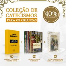 Combo 05 - Coleção de catecismos para 05 crianças