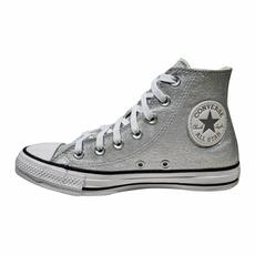 Tênis Converse Chuck Taylor All Star Cano Alto Prata Puro CT14620001