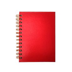 Mini caderno . Sem pauta . Vermelho
