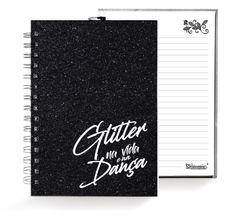 Caixa Glitter . Caderno . Preto