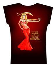 Camiseta . Aquarela Vermelho