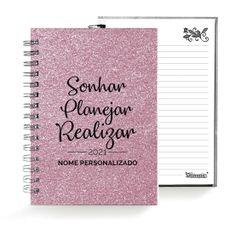 Caderno . Shimmie Glitter 2021 . Rosa . Pequeno