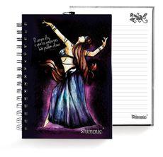 Caderno . Shimmie Lilás e Azul . Pequeno